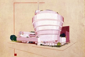Early pink exterior version.