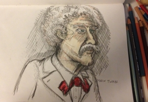Mark Twain. Probably the funniest and most observant man to ever live.